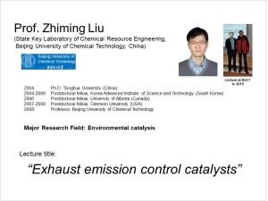 Introduction of Prof. Liu